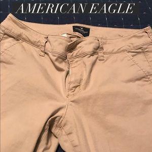 American Eagle kickboot khakis